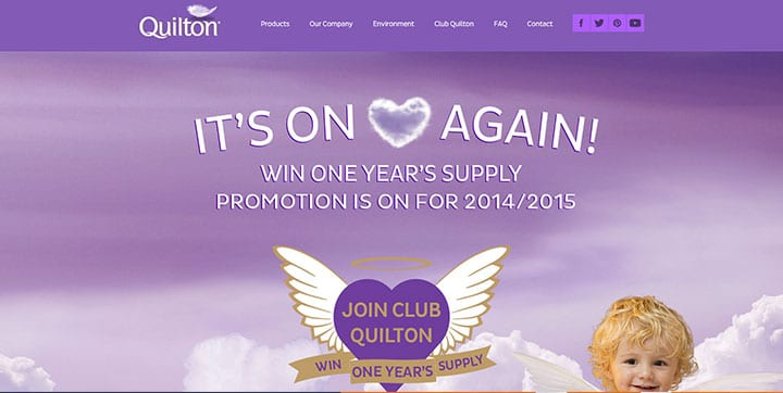 Quilton purple color website