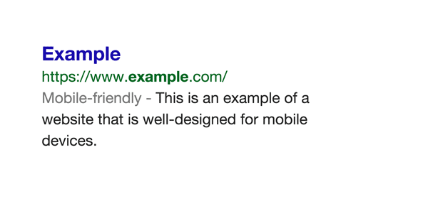 Google mobile friendly website labell